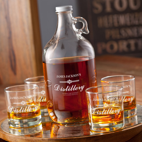 personalized whisky growler