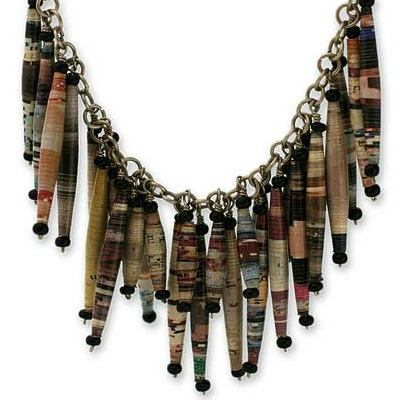 paper dangle necklace