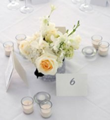 pearl anniversary party centerpiece
