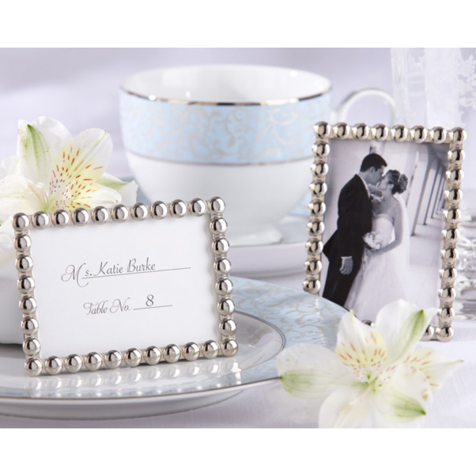 silver favor frame