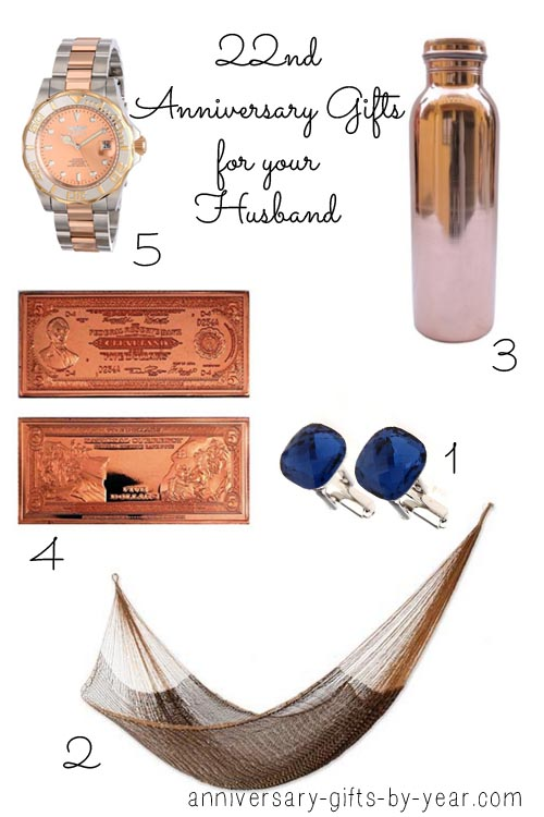 22nd anniversary gifts for your husband
