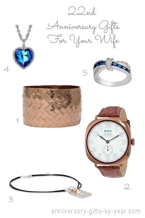 22nd anniversary gifts for your wife