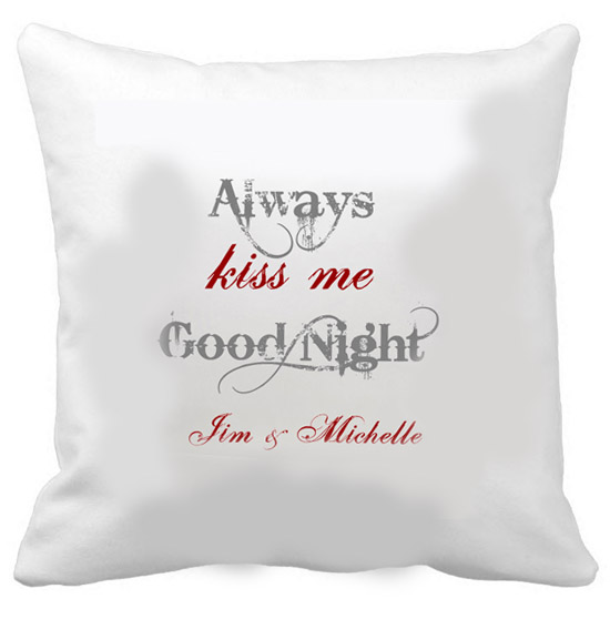 Anniversary gift after baby - romantic personalized pillows