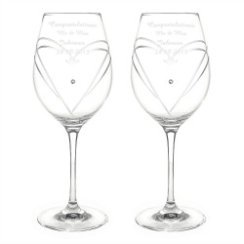 personalized 60th anniversary wine glasses