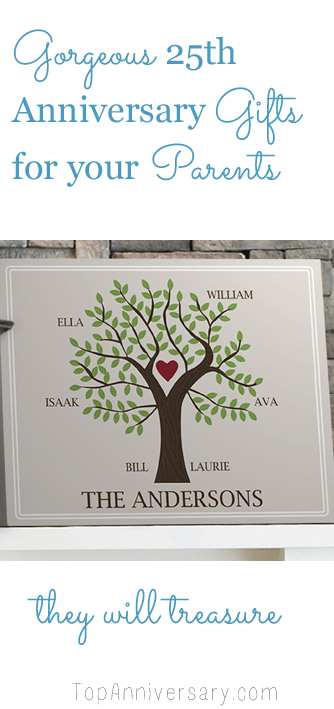 25th wedding anniversary gifts for your parents that they will treasure for years
