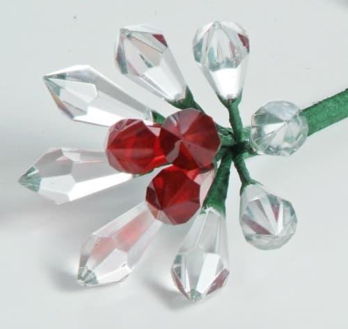 15th anniversary crystal rose