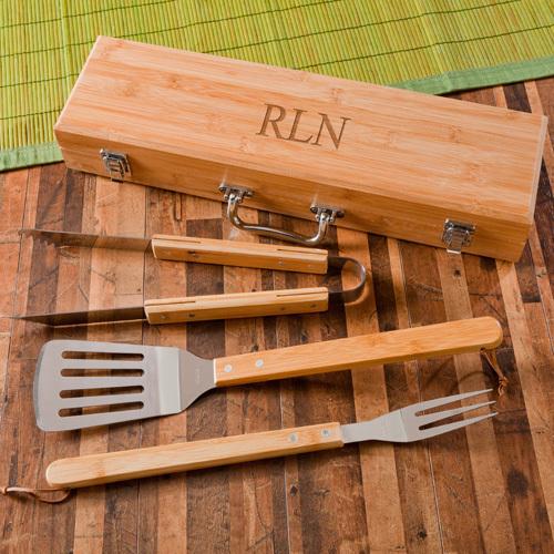 wooden bbq kit