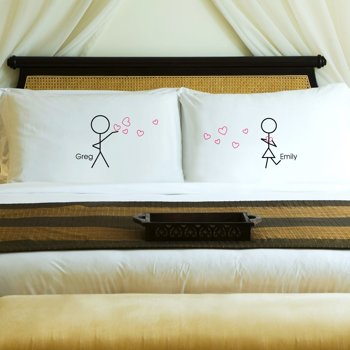 Personalized Anniversary pillow cases