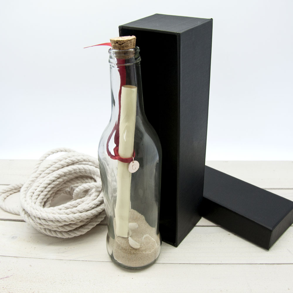 10 year anniversary gift - personalized love message in a bottle