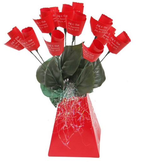 personalized valentines roses
