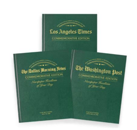 20th anniversary newspaper book