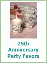 25th wedding anniversary party favor