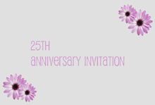 25th anniversary flower invitation