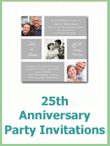 printable 25th wedding anniversary invitations