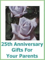 25th anniversary gift ideas for parents