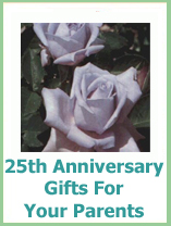 Gifts For Parents 26th Wedding Anniversary : 25th anniversary gift ideas for parents
