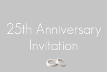 25th anniversary wedding band invitation