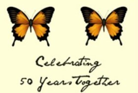free printable 50th anniversary invitation with butterflies