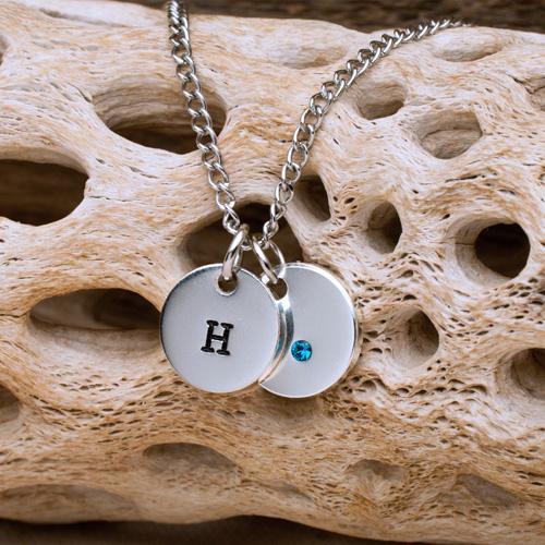 anniversary gemstone necklace