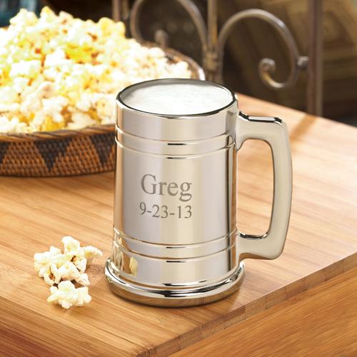 engraved Anniversary gift for your husband - metal beer mug