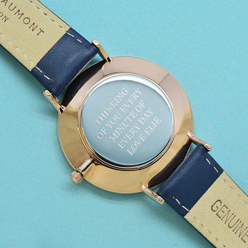 engraved leather anniversary watch