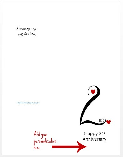image regarding Printable Anniversary Cards Free named Free of charge Custom-made Anniversary Playing cards