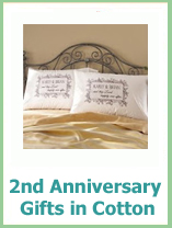 2nd anniversary gifts for your wife in cotton