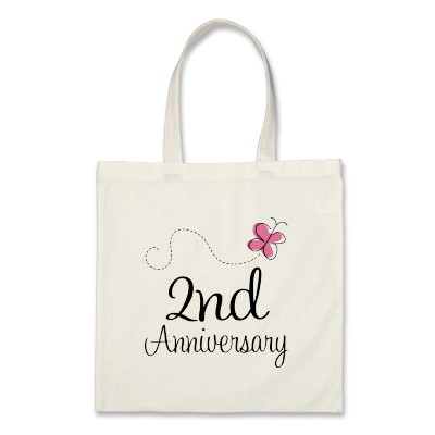 2nd anniversary canvas bag