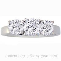 3 diamond platinum anniversary ring