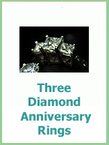 three diamond anniversary rings