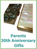 30th anniversary gifts for your parents