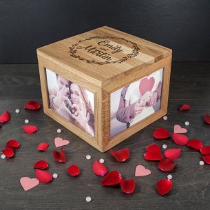 personalized wooden photo box