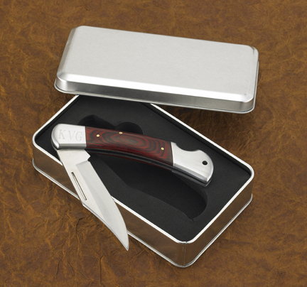 personalized wooden handled pocket knife