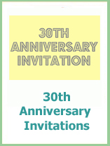 printable 30th wedding anniversary invitations