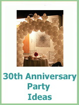 30th wedding anniversary party