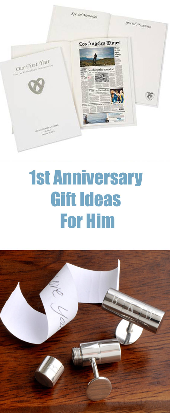 1st anniversary gifts for him