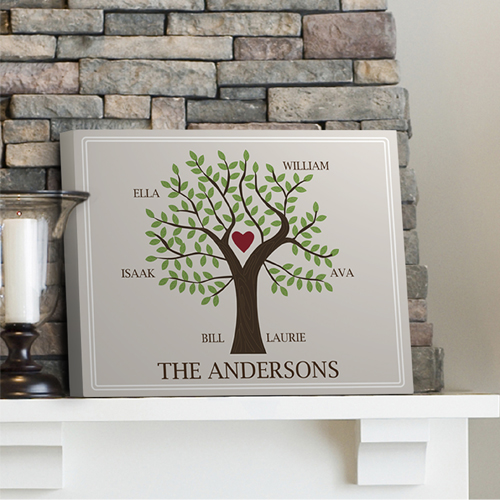 60th wedding anniversary gift idea - personalized family tree