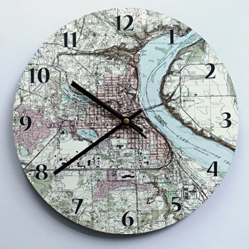 personalized anniversary map clock