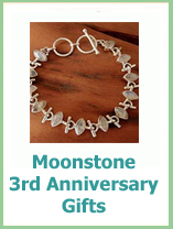 3rd Anniversary gifts from the gemstone list