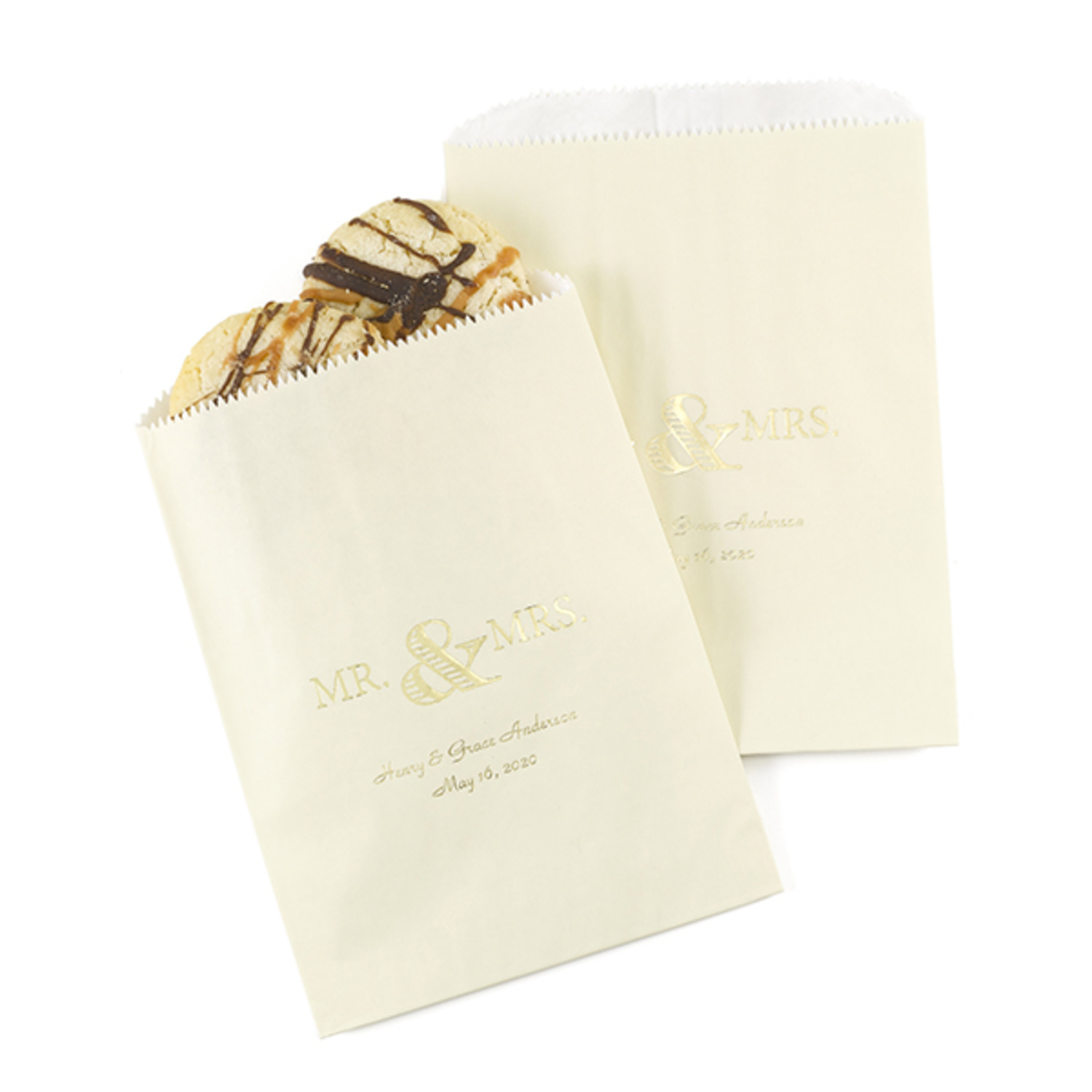 personalized golden anniversary treat bags