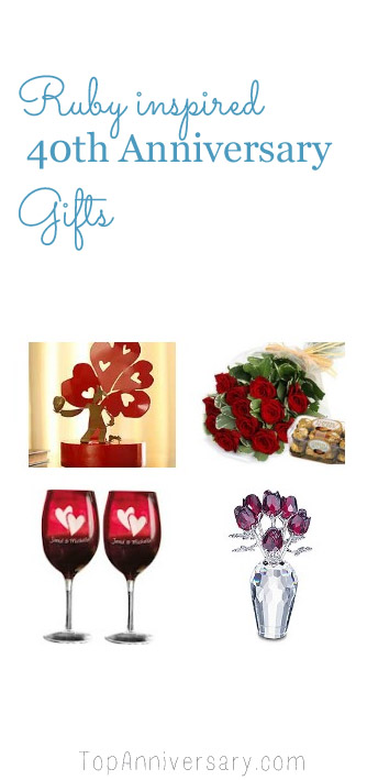 40th Wedding Anniversary Gift Ideas From Topanniversary Com