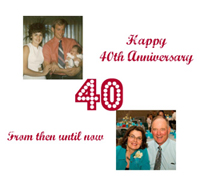 personalized 40th anniversary card