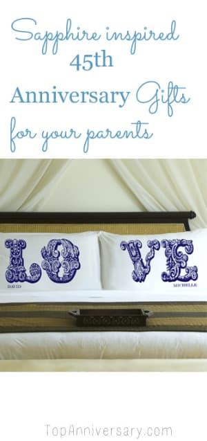45th Wedding Anniversary Gift Guide