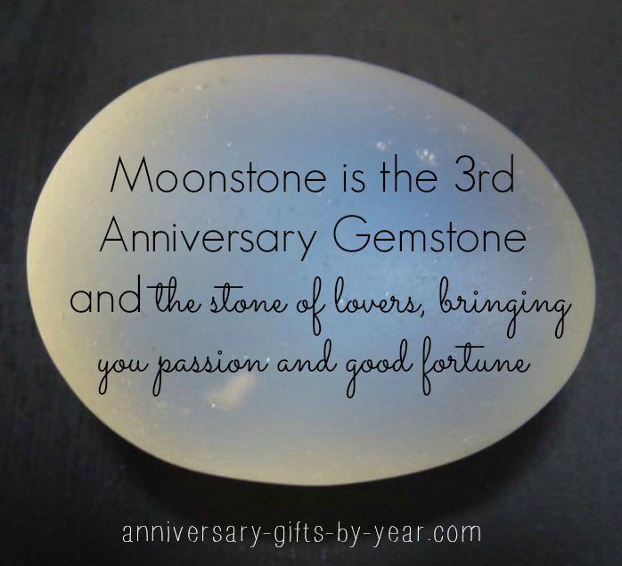 moonstone 3rd anniversary gemstone