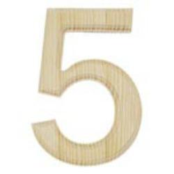 wooden number 5
