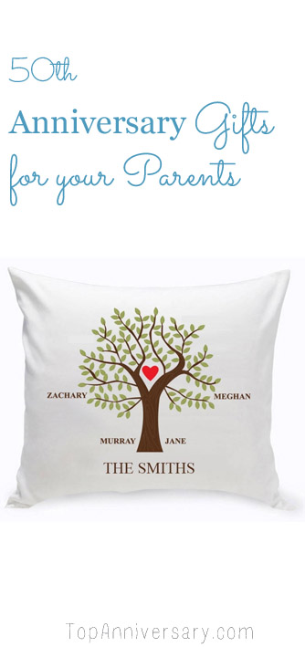 best 50th wedding anniversary gift ideas for your parents