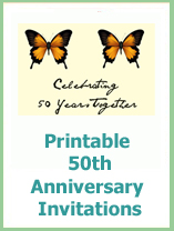 50th wedding anniversay invitations