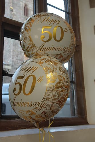 50th anniversary party balloons