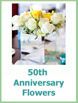 50th wedding anniversary flowers