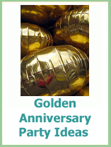golden anniversary party ideas